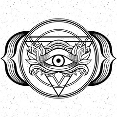 All seeing eye Ajna chacra.