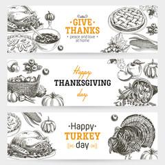 Vector hand drawn thanksgiving Illustration.
