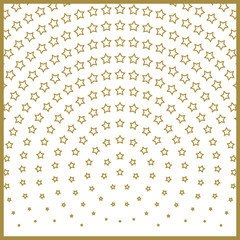 Christmas stars pattern, Center of radiation symmetry