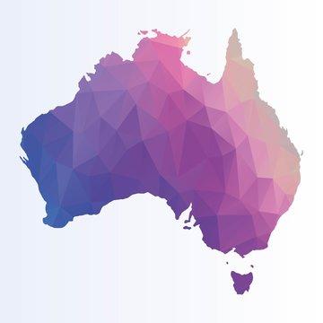 Poygonal map of Australia
