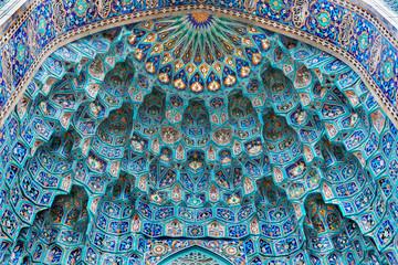 Saint Petersburg Mosque, majolica mosaic of the portal