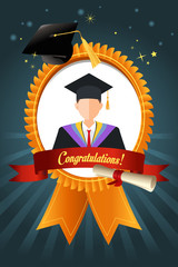 Graduation Student Ribbon
