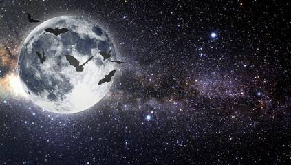 Halloween. Star sky.