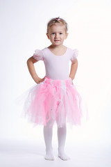 balerina dancer on bright background