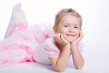 cute little dreaming girl