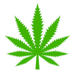 Marijuana leaf vector icon