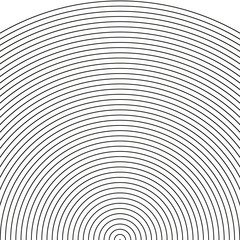 set arc - sonar, sector of circle,Circle pattern with dynamic, irregular lines. Geometric circular pattern with radiating, converging circles  vector