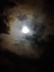 luminous full moon
