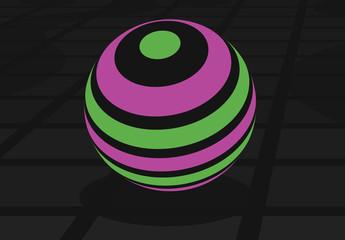 Gráficos para títulos de esferas fluorescentes