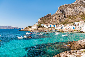 Levanzo island in the Mediterranean sea west of Sicily, Italy Wall mural
