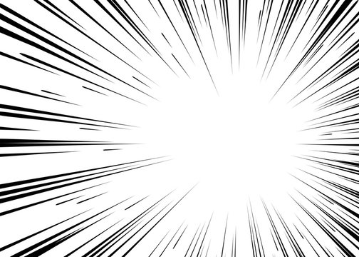 Sun ray or star burst Comic radial lines background