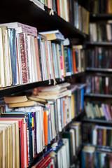 Bookshelf in public library
