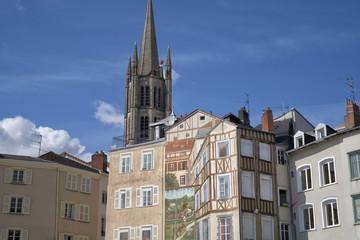 Limoges, fresque de la place de la Mott