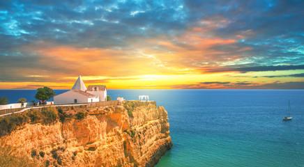 Capela de Nossa Senhora da Rocha, Sunset, Algarve Wall mural