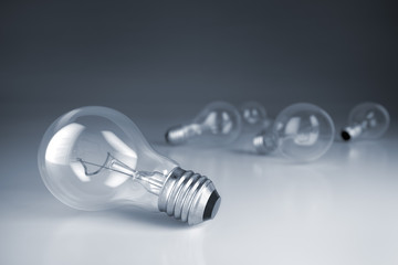 Lamp bulbs. 3D illustration