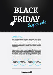 Black friday sale. Promo poster template