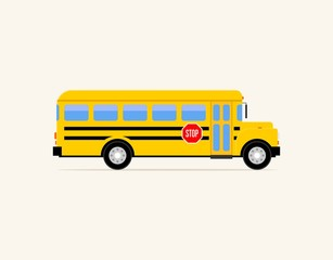 Back to school bus icon