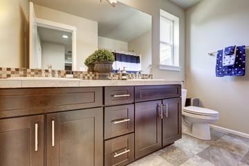 Clean and tidy bathroom interior