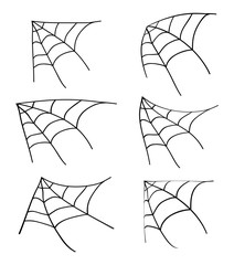 halloween corner  spiderweb vector symbol icon design.