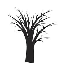 halloween  bare tree vector symbol icon design.