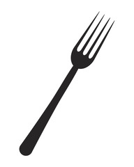 kitchen fork vector symbol icon design.