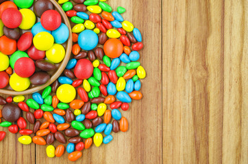 colorful button-shaped chocolate