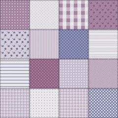 Vintage seamless patchwork background with different patterns.