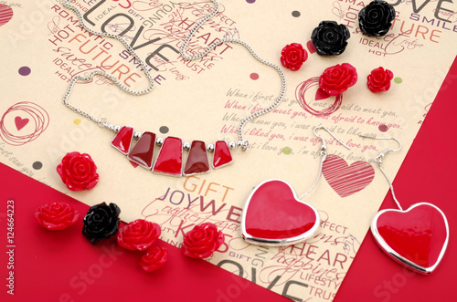Fashion Jewelry Advertisement For Saint Valentine S Day Stock