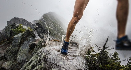 Runner puddle splash on ridgeline Wall mural