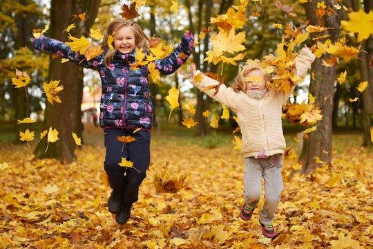 enfants automne