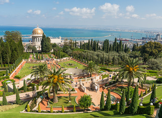 Bahai temple and gardens in Haifa, Israel