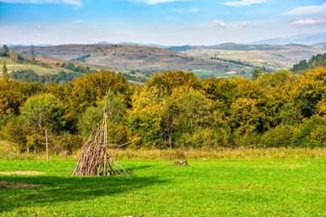 Rural area in Carpathian mountains