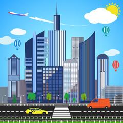Urban earth concept. Vector illustration
