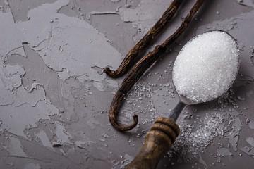 Vanilla pods and sugar