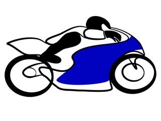 Fototapete - Motorrad Rennen Biker Tribal