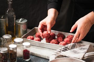 Beef swedish meatballs bowl.