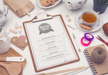 Tea Party Menu Mockup
