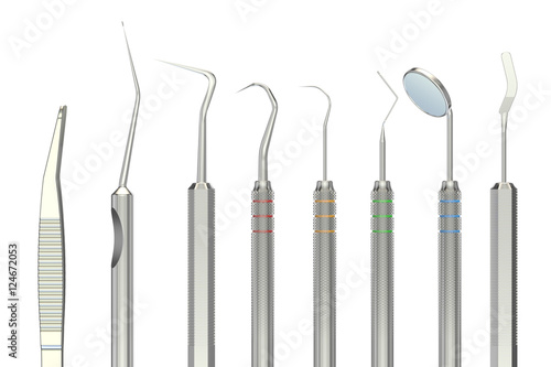 Dental Tools 3d Rendering Stock Photo And Royalty Free