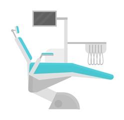 Dental chair clinic vector illustration.