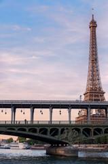 Eiffel Tower seen from the Seine