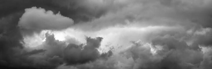 Cloudy sky panorama.