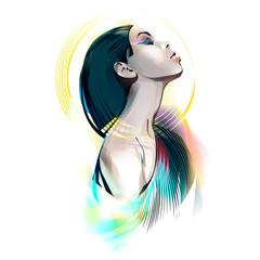 Egyptian Goddess. Portrait Of A Girl