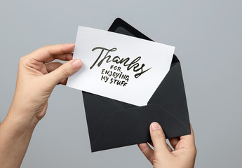 Maquette de carte et enveloppe