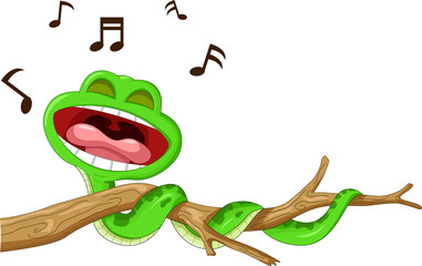 snake cartoon singing