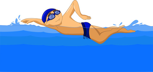 Freestyle Swimmer cartoon