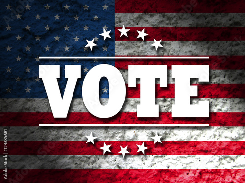 vote design for presidential election usa vote sign with american