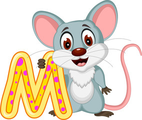 happy mouse cartoon posing