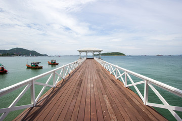 Asadang Bridge(Pier) at Koh Sichang,Chonburi,Thailand