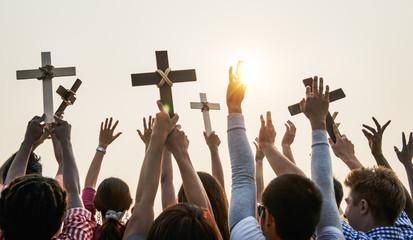 Cross Religion Catholic Christian Community Concept Fototapete