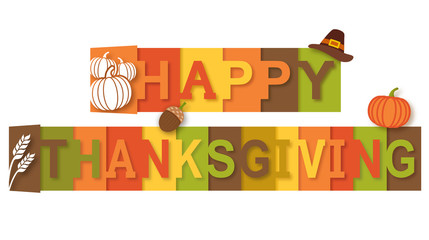 Happy Thanksgiving Text Banner